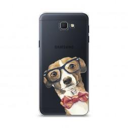 Cиликоновый чехол Умный пес на Samsung Galaxy J5 Prime 2016