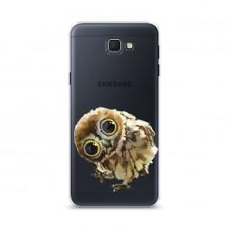 Cиликоновый чехол Любопытный совенок на Samsung Galaxy J5 Prime 2016