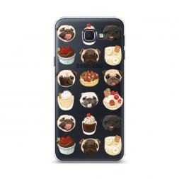 Cиликоновый чехол Мопсы и сладости на Samsung Galaxy J5 Prime 2016
