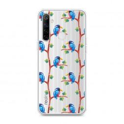 Силиконовый чехол Птица геометрия на Realme 6i