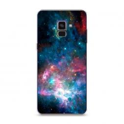 Силиконовый чехол Вселенная на Samsung Galaxy A8 2018