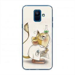 Cиликоновый чехол Мышь химик на Samsung Galaxy A6