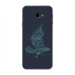 Cиликоновый чехол Птица-графика на Samsung Galaxy J4 Plus (Core)