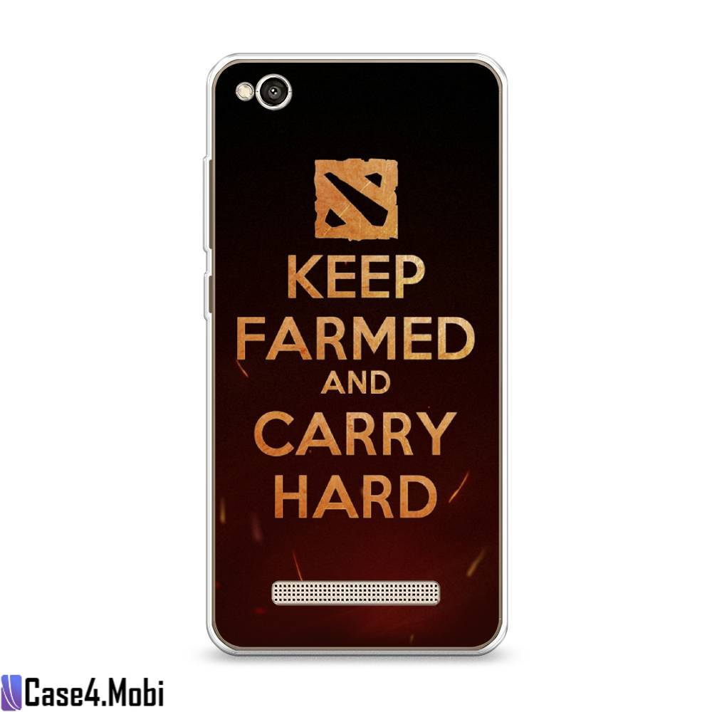 Cиликоновый чехол Keep farmed на Xiaomi Redmi 4A