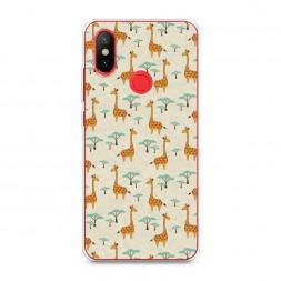 Cиликоновый чехол Нашествие жирафов на Xiaomi Mi A2