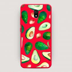Матовый силиконовый чехол Beautiful avocados на Xiaomi Redmi 8A, Xiaomi Redmi 8A Beautiful avocados красный