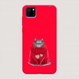 Матовый силиконовый чехол Хлоя в свитере на Huawei Y5p, Huawei Y5p Хлоя в свитере красный