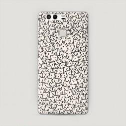 Пластиковый чехол Страна котиков на Huawei P9 (Dual)