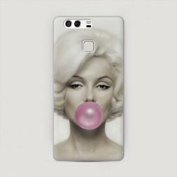 Пластиковый чехол Монро bubble gum на Huawei P9 (Dual)