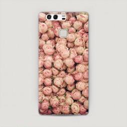 Пластиковый чехол Розы мелкие на Huawei P9 (Dual)