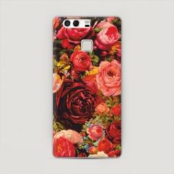 Пластиковый чехол Розы винтажные на Huawei P9 (Dual)