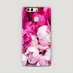 Пластиковый чехол Пионы розово-белые на Huawei P9 (Dual)