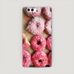 Пластиковый чехол Вкусные пончики на Huawei P9 (Dual)