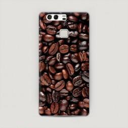 Пластиковый чехол Кофейные зерна на Huawei P9 (Dual)
