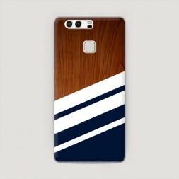 Пластиковый чехол Дерево с синим на Huawei P9 (Dual)