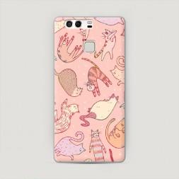 Пластиковый чехол Розовое счастье на Huawei P9 (Dual)