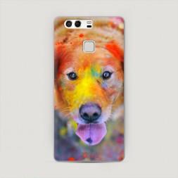 Пластиковый чехол Собака в красках на Huawei P9 (Dual)