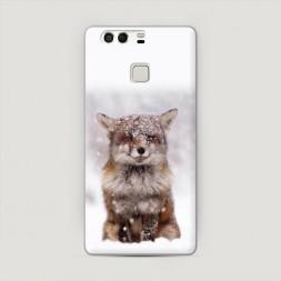 Пластиковый чехол Зимняя лиса на Huawei P9 (Dual)