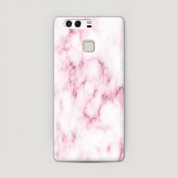 Пластиковый чехол Мрамор с розовым на Huawei P9 (Dual)