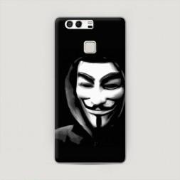 Пластиковый чехол Анонимус на Huawei P9 (Dual)