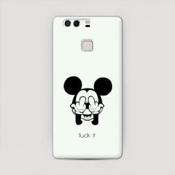 Пластиковый чехол Микки Фак на Huawei P9 (Dual)