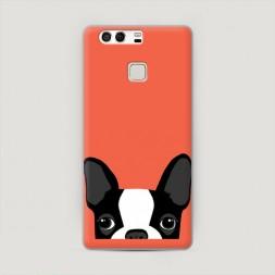 Пластиковый чехол Мопс оранжевый на Huawei P9 (Dual)