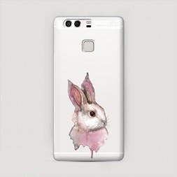 Пластиковый чехол Розовый заяц на Huawei P9 (Dual)