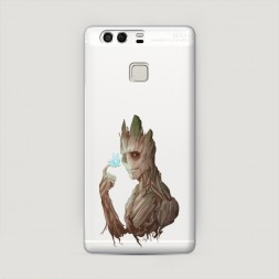 Пластиковый чехол Грут с бабочкой на Huawei P9 (Dual)