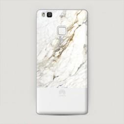 Пластиковый чехол Белый мрамор фон на Huawei P9 lite