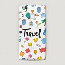Пластиковый чехол Travel flatlays на Huawei P9 lite