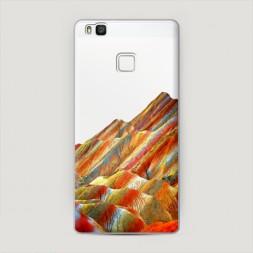 Пластиковый чехол Разноцветные горы на Huawei P9 lite