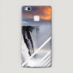 Пластиковый чехол Туманный водопад на Huawei P9 lite