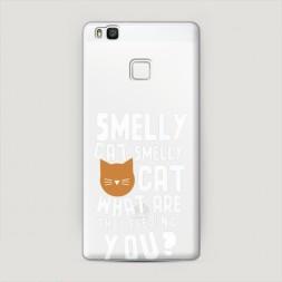 Пластиковый чехол Smelly cat на Huawei P9 lite