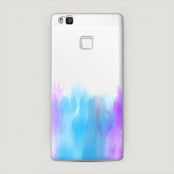Пластиковый чехол Голубые мазки краски на Huawei P9 lite