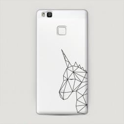 Пластиковый чехол Единорог геометрия на Huawei P9 lite