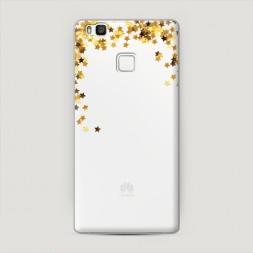 Пластиковый чехол Блестящие звездочки на Huawei P9 lite