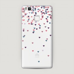 Пластиковый чехол Посыпка сердечки на Huawei P9 lite