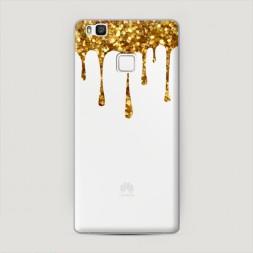 Пластиковый чехол Золотые потеки на Huawei P9 lite