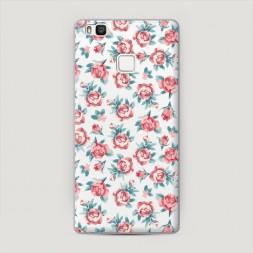 Пластиковый чехол Мелкие розы рисунок на Huawei P9 lite