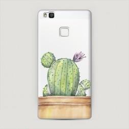 Пластиковый чехол Кактус с цветком на Huawei P9 lite
