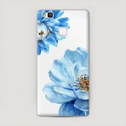 Пластиковый чехол Голубые клематисы на Huawei P9 lite