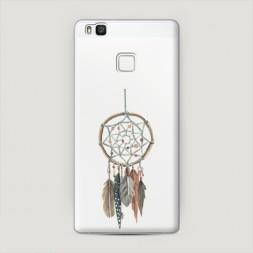 Пластиковый чехол Ловец снов с перьями на Huawei P9 lite