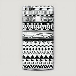 Пластиковый чехол Узор ацтеков графика черная на Huawei P9 lite