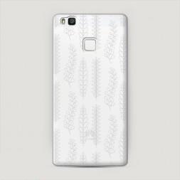 Пластиковый чехол Растительный фон на Huawei P9 lite