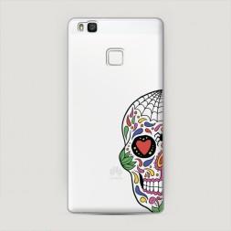 Пластиковый чехол Череп из Мексики арт на Huawei P9 lite