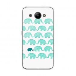 Силиконовый чехол Индийские слоны на Huawei Y3 2017